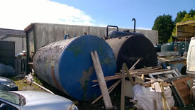 22,000 litre metal storage tanks