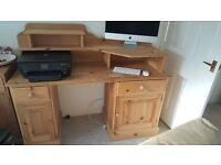 Computer Desk in solid pine