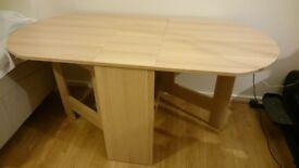 Folding / Extendable Dining Table (light Oak) (4 - 6 Seater)