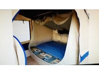 SUNNCAMP 6 BERTH TRAILER TENT WITH AWNING SLEEP EXTRA 4 WITH KITCHEN.