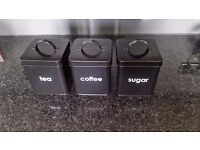 NEW - Tea Coffee and Sugar Kitchen canisters