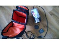 Panasonic Hand-Held Color Video Camera PV-GS85 view finder SD CARD TRIPOD CAMCORDER BAG can post