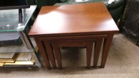 solid oak nest tables,excellent condition,can deliver 07989088223