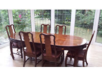 Formal Dining table and six chairs (Large)