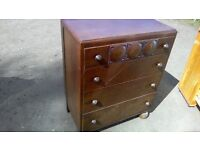 Vintage four drawer chest