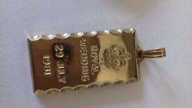 Royal Wedding 29th July 1981 22carat gold plated pendant