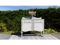 Stunning Grey & White Vintage Sideboard. Shabby Chic. Delivery Available.