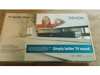 Denon TV Sound base Speaker Base Bluetooth Virtual Surround Sound works with Alexa Dolby digital