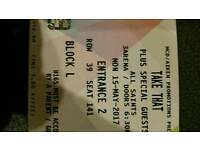 2 x Take That tickets for 3 Arena Monday 15th May