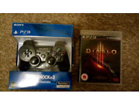 Brand new PS3 Controller + 1 game