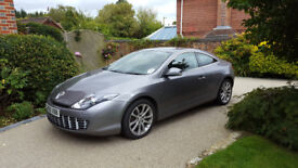 Renault Coupe Laguna, 2010 reg., low annual mileage, manual, diesel fuel. Fast, smart, economical