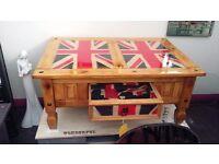 Unique wooden table