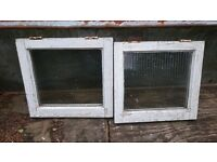 Pair of Small Square Windows - 37cm x 40.5cm - Perfect for Shed or Coop