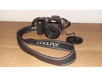 NIKON COOLPIX DIGITAL CAMERA L810 Mink with case and carry strap.