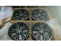 19inch Alloy Black & Silver Edges For Audi A3 A4 A5 A6