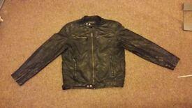 Black leather jacket aviatrix