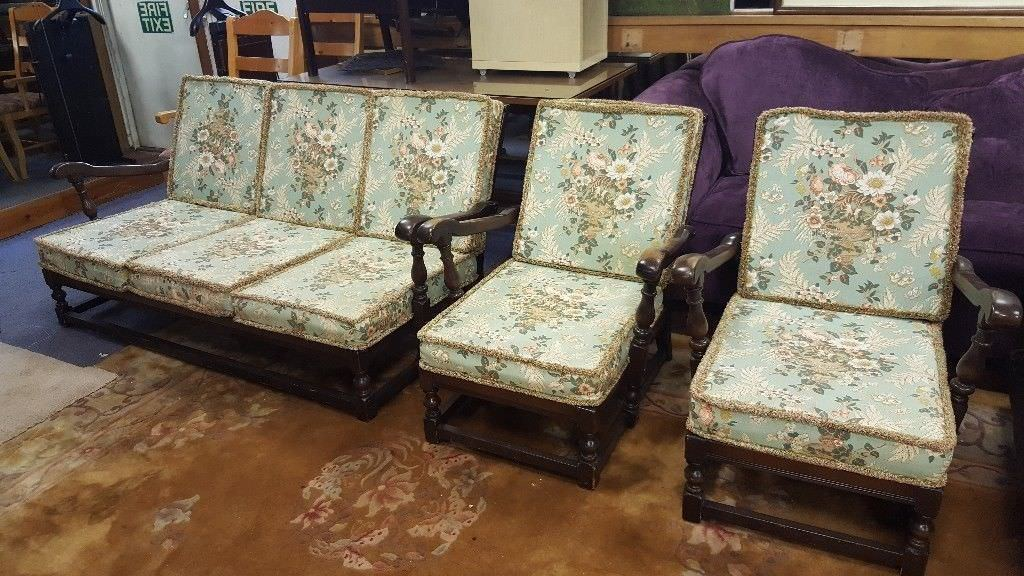 Amazing Ercol Old Colonial Sofa 2 Arm Chairs In Great Condition In Anniesland Glasgow Gumtree Ibusinesslaw Wood Chair Design Ideas Ibusinesslaworg
