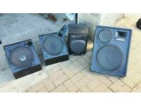 Yamaha speakers with free aiwa bass box