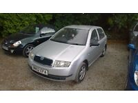 Skoda Fabia silverline 2002-52-reg, 1400cc petrol, New mot on purchase