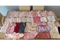 0-3 months and Newborn Baby Girl clothing bundle 120+ items