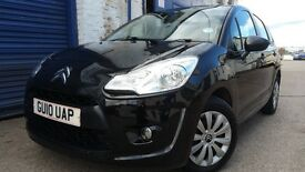 2010 CITROEN C3 1.4 VT BLACK LOW MILEAGE NEW MOT NEW CAMBELT IMMACULATE