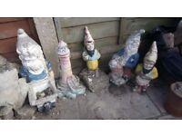 Garden ornaments - dwarfs and lighthouse