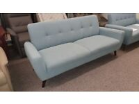 Monza 3 Seater blue linen fabric Sofa Can Deliver