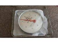 Vintage scales and basket retro fishing carp match sea shop