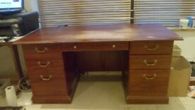 Pedestal desk - ideal for home office, student, etc.