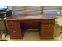 Pedestal desk - ideal for home office, student, etc.