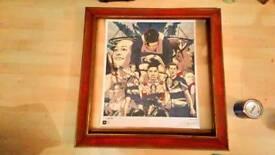 Team GB London 2012 poster lovingly framed