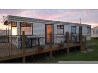 Caravan for rent/hire Ingoldmells Skegness. Close to Fantasy Island and beach. Sleeps 6