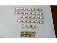 *** 26 Rare Gorgeous 16mm Antique Crystal Chandelier Beads***