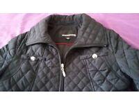 Ladies black padded jacket