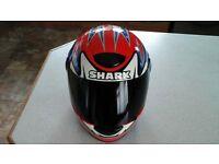 carl fogarty signed shark helmet ( foggy ducati honda yamaha suzuki kawasaki triumph arai agv )