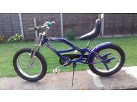 BOYS TEENAGER EAST COAST BLUE BIKE CHOPPER STYLE 20INCH X 3.0 WHEEL BEACH CRUISER LOWRIDER BICYCLE