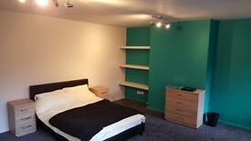 Large clean double, all bills included with 152mb+ wifi, no deposit required