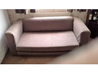 Double sofa bed colour brown hardly used.