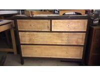 Oak vintage chest of drawers