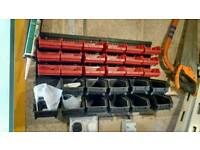Assorted wall storage boxes