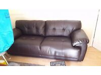 Dark Brown Leather Sofas