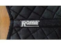 Riding pony numnah Roma black suit pony 11-12 hands