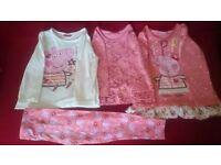 Peppa pig girls bundle 3-4 year old