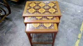 Retro Nest of Three Tile Topped Tables
