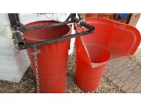 5 BUILDERS RUBBISH CHUTES COMPLETE WITH HOPPER AND HOPPER BRACKET