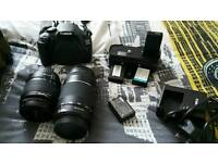 CANON EOS 1200D WITH CANON LENS EF 75-300 mm