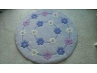 Small lilac wool rug from next