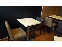 Cafe/Bar/Restaurant brown and beige faux leather chairs x 22