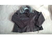 Woman's Leather-like jacket size 18