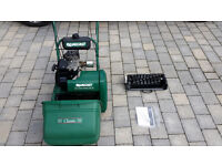 Qualcast 35s Petrol Mower with Roller and Scarifier